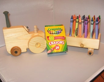 Crayon Tractor and Trailer