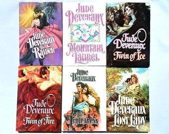 Jude Deveraux Set of Six Vintage Hardcover Romance Novels