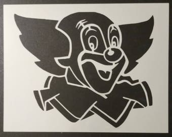Clown Face Bozo Custom Stencil FAST FREE SHIPPING