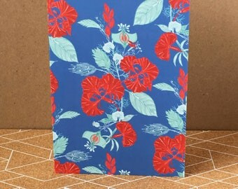Exotic Blooms - Floral - Greeting Card - Pattern - Colourful