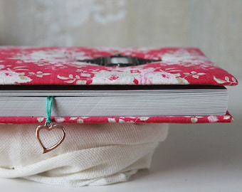 Fabric covered handmade notebook journal, girl's diary, album, personalized notebook, A5 notebook, writing journal