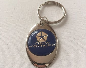 Chrysler New Yorker Keychain Chrome Plated Solid Metal Key Chain