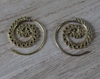 Spiral pair of small Stud Earrings