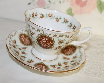 Royal Albert Heirloom -Cameo Series Bone China Teacup and Saucer Very Pretty