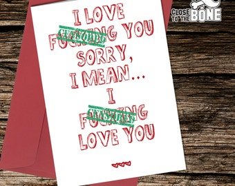 No24 VALENTINES or BIRTHDAY Card Adult Boyfriend or Girlfriend HUMOUR Funny  Rude Humorous Greetings Card By Close to the Bone