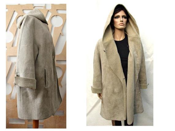 Designer Sheepskin coat Women Suede Shearling by StylishAgain