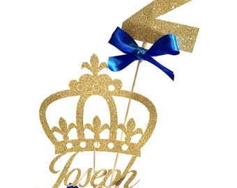 Gold Prince Cake Topper, Prince Centerpiece, Royal Centerpiece, King Centerpiece, Prince Birthday Party, Prince Baby Shower