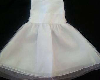 Preemie Dress - Ivory Take Me Home or Dedication - AMERICAN MADE