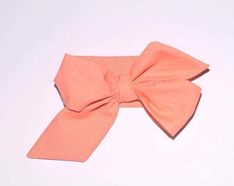 Creamsicle Baby Girl Head Wrap-  Baby Head Wraps- Infant Head Wrap- Baby Head Wraps Bow- Head Wraps For Baby Girl- One Size Fits All Girls