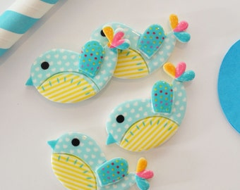 Blue Sweety Bird, Pack of 4