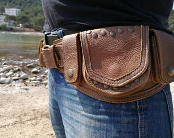 Leather utility belt