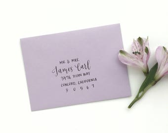 Custom Modern Calligraphy Envelope Addressing Style 1