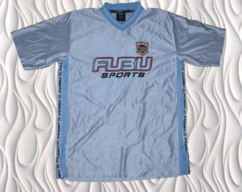 90's FUBU - XL - Taped Seam Spell Out On Dat Silky Jersey