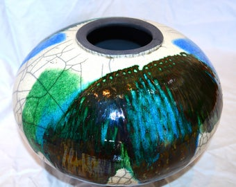 Green and Blue Decorative Vase