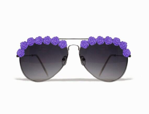 Los Angeles Purple Aviator Coachella Festival Sunglasses