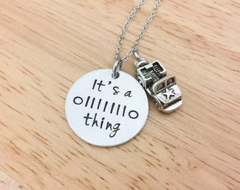 It's A Jeep Thing Jeep Charm Necklace-Jeep Charm Necklace-Jeep Lover Gift-Jeep Girls Necklace-Hand Stamped Jewelry-Jeep Birthday Gift-Jeeps