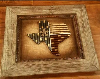 Texas Map with Frame
