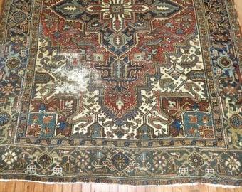 Antique Persian Heriz Rug Size 6'6''x8'9''