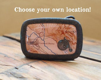Custom Map Belt Buckle/ Colorado/ Map Jewelry/ Unique Gifts/ Map Accessories/ Belt Buckles/ Bike Gifts