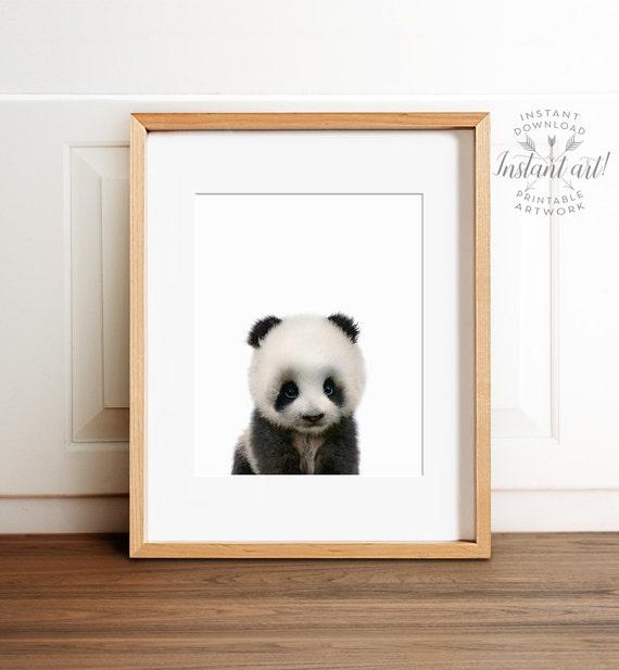 Panda print, Panda nursery art, PRINTABLE art, Nursery decor, Animal art, Baby animals, Nursery wall art, Kids art, The Crown Prints