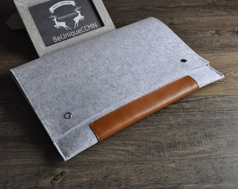 MacBook 11 case, MacBook padded sleeve,11 inch laptop cover, MacBook 11 Air case, Handmade Padded Cover for MacBook11 BN003