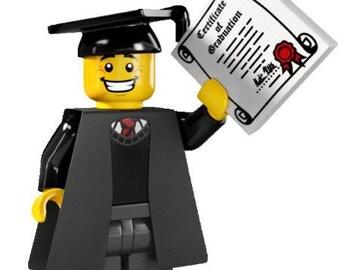GRADUATE! custom minifigure 100% Lego Compatible
