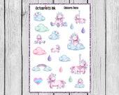 Unicorn Planner Stickers, Unicorn Deco Stickers, Watercolor Deco Stickers, Watercolor Unicorns, Unicorn Stickers, Planner Stickers