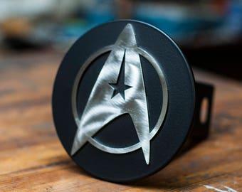Star Trek Trailer Hitch Cover - Stainless