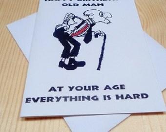 Old Man Funny Birthday Card