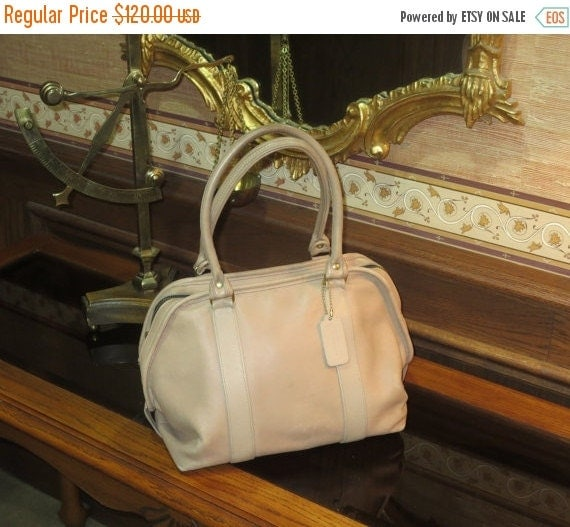 Football Days Sale Coach Taupe Leather Soft Satchel Style Number 4055 Leatherware Logo - Made In U.S.A- Vgc