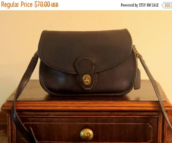 Football Days Sale Coach Prairie Bag Black Leather Cross Body 48 Inch Strap No. 9954- Very Good Condition