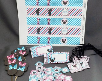 HandmadeMinnie Mouse Inspired Birthday Party Package
