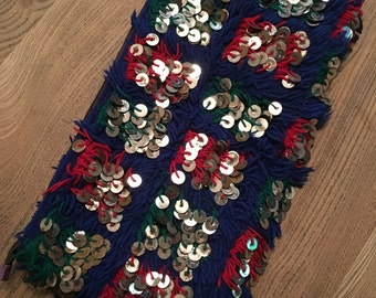 Pouch kilim and sequins