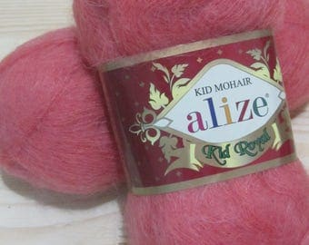 SALE! 2 skeins KID ROYAL Alize # 656 -  50 gr. - 500 m. Alize Angora Kid Royal Yarn. Kid Mohair yarn for crochet and knitting