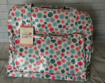 Sewing machine bag/ caddy/ tote/ baby bag/ craft bag/ button design
