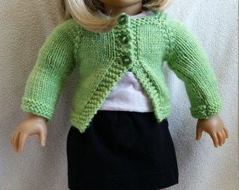 Sweater and skirt set for dolls