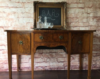 19th Century English Brandy Board (buffet, server), Mahogany