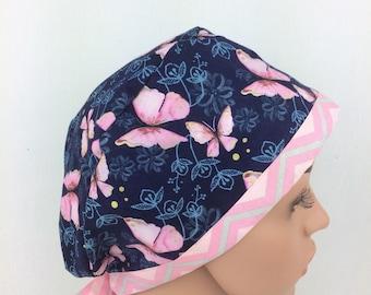Surgical Scrub Cap, Nurse Cap, Chemo Cap , Scrub Hats Pixie Hat.