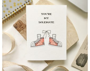 SOULMATE CARD // love card, funny love card, anniversary card, funny anniversary card, valentines day card, hipster card, trendy card, punny