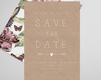 Rustic Save the Date Printable, Countrywed, Save the Date Invitation, Wedding Invite, Engagement Announcement, Engagement Invitation