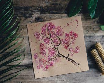 Watercolour Painting, Watercolour Print, Watercolour Flowers, Orange Watercolour Print, Original Watercolour Painting, Flower Art, Floral
