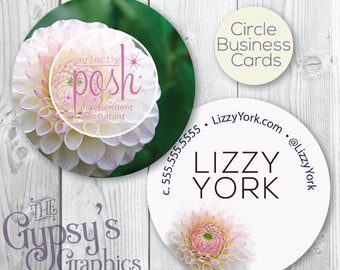 Perfectly Posh Business Cards,Delilah Delight,Perfectly Posh Circular Card,Perfectly Posh Marketing,Posh Calling Card,Posh Business Material