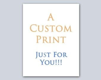 Custom Print For Ashley Haring only Metallic Foil Print, Wall Art Real Foil