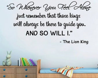 The Lion King Wall Art Quote Vinyl Decal Sticker Room Mural Transfer  Decoration DIY Part 86