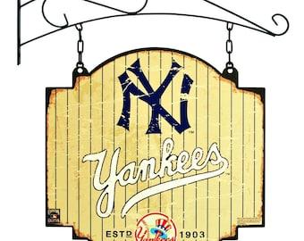 New York Yankees Tavern Sign With Bracket