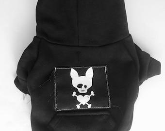 Dog Hoodie- PAWnk Basic-Black