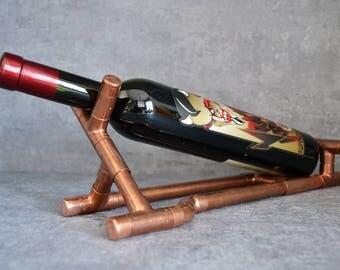 COPPER BOTTLE HOLDER 6 - wine holder - wine display - wine furniture - wine expositor - wine equipment - wine accessories - wine presenter