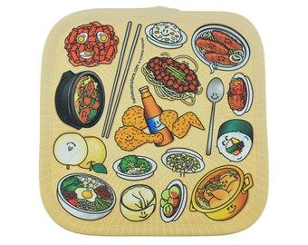 Korean Potholder, Kitchen Potholder, Oven Potholder, Padded Oven Mitt Potholder, Food Pot Holder, Cook Potholder, Funny Potholder Idea, Hot
