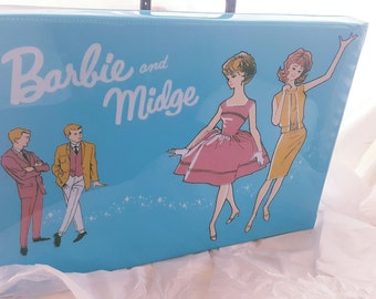 Barbie and Midge Accessory Case, Blue and Black, Clothing Case, Shoe Case, Mattel, American Girl Case, Barbie Clothes, Carrying Case