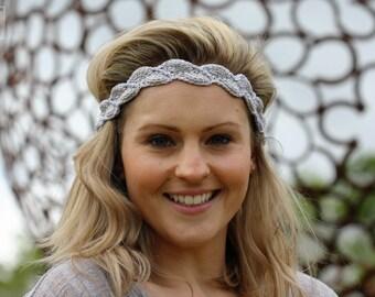 Crochet Headband Pattern - Grecian crochet, bridal crochet pattern, grecian headband, crochet